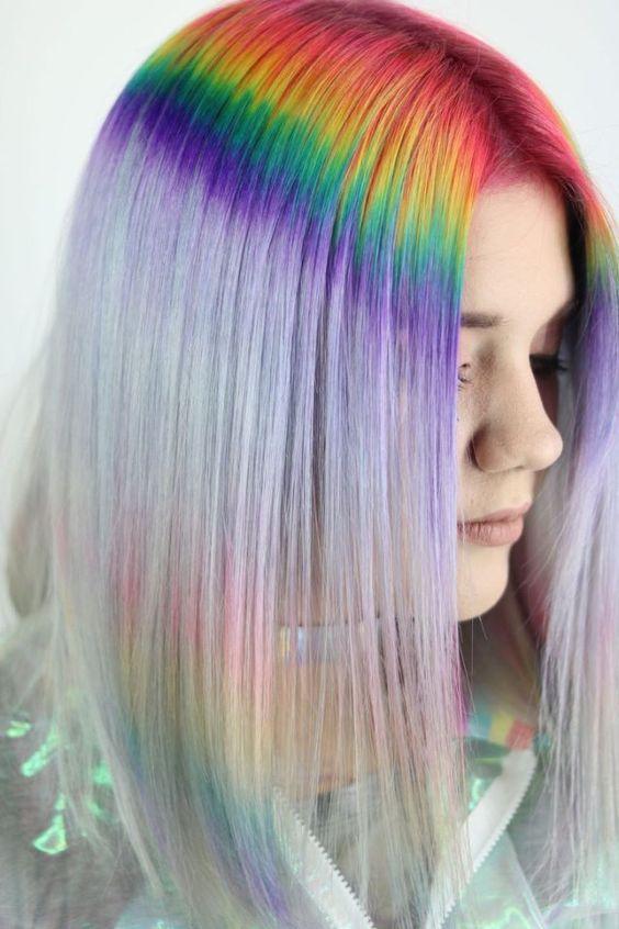 teñido arcoíris